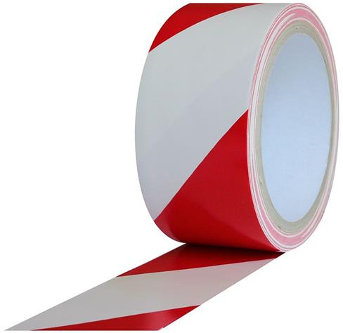 Safety Warning Tape 2 Quot X18yds Red White